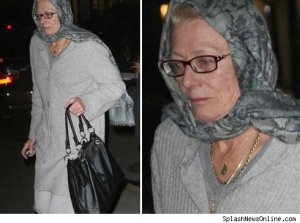 """Vanessa Redgrave arrives at New York hospital """"Lennox Hill"""" to visit her daughter on Wednesday, March 18th."""