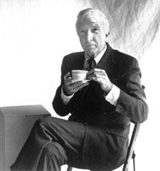 John Updike takes tea.